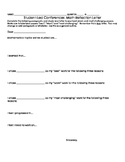 Math Student-Led Conference Student Reflection Letter to Parents