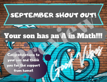 September Math Shout Out Email Infographics