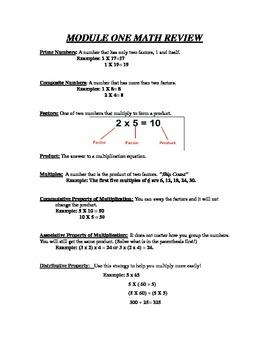 Math Study Guide