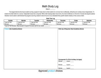 Math Study Log