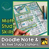 Math Study Skills: Doodle Note & Active Study Stations