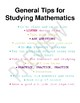 Math Study Tips Posters