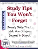 Twenty Study Tips to Help Students Succeed in School
