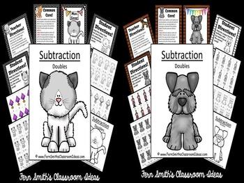 Subtraction Doubles Math Center Games