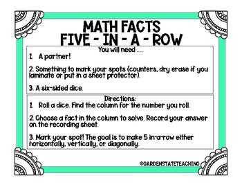 Math Subtraction Fact Fluency Kit