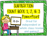 Math Subtraction Facts Review Powerpoint~ Count back 1, 2, & 3