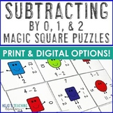 Subtracting by 0, 1, and 2 Math Center Game