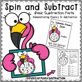 "Math Subtraction Spinner Game * ""Spin and Subtract"" *Fluency in Subtration"