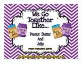 Math Subtraction Station Games Common Core-- Peanut Butter and Jelly