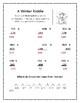 Math: Subtraction - Winter Riddles