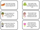 Math Subtraction Word Problems Flash Cards. Preschool flas
