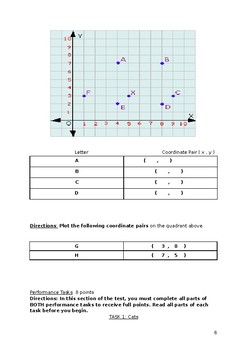 End of Year Math Summative Assessment With ANSWER KEY
