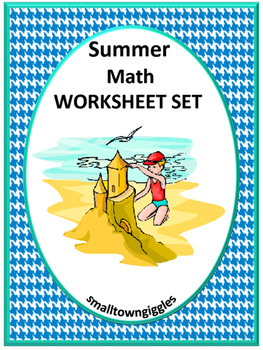 Summer Math Worksheets PK, K, Special Education, Autism