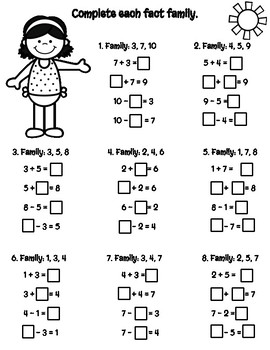 Math Summer Review for 1st & 2nd graders!