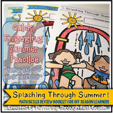 "Math Summer Skills Review Booklet ~ ""Splashing Through Summer"""