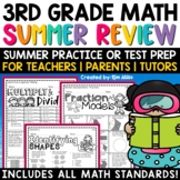 Summer Packet Math Skills Review NO PREP | 3rd Grade | Test Prep