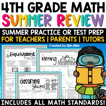 Summer Packet for 4th to 5th Grade | Summer Math by Kim
