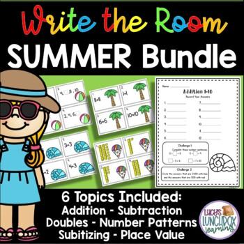 Math Summer Write the Room - BUNDLE