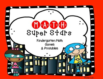 Math Super Stars: Kindergarten Math Games and Printables