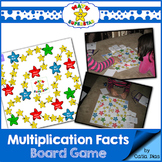 Math SuperStar Multiplication Facts Board Game