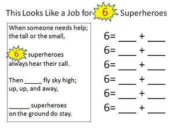 Math Superheroes Break Apart