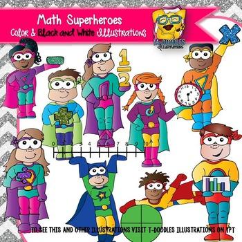 Math Superheroes Clipart