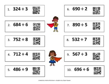 Math Superheroes--Multiplication/Division