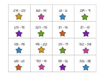 Math Superstars: A Mental Math Subtraction Game