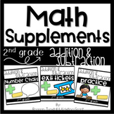 Math Supplements Addition and Subtraction Bundle 2nd Grade