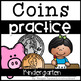 Math Supplements Kindergarten Coins Bundle