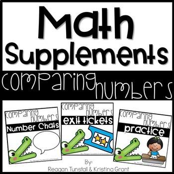 Math Supplements Kindergarten Comparing Numbers Bundle