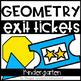 Math Supplements Kindergarten Geometry Bundle