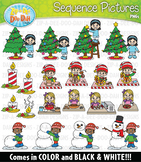 Winter Sequence Action Pictures Clipart {Zip-A-Dee-Doo-Dah Designs}