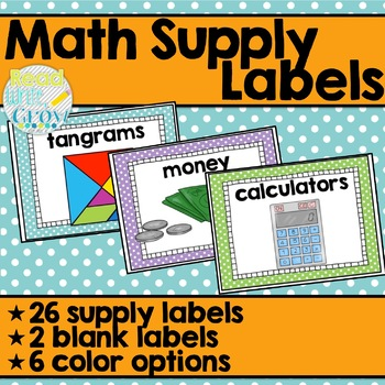 Math Supply Labels