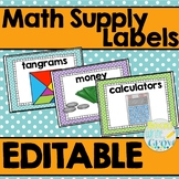 Math Supply Labels {EDITABLE}
