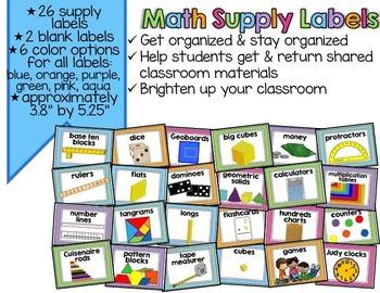 Math Supply Labels {EDITABLE}