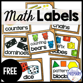 Math Supply Labels Free