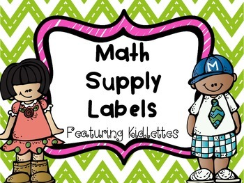 Math Supply Labels with Melonheadz Kidlettes