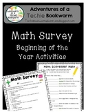 Math Survey- Beginning of the Year