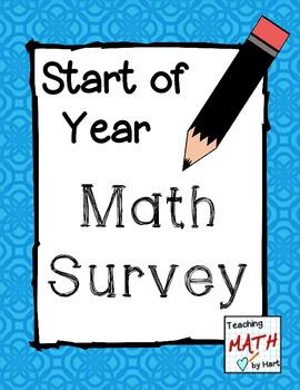 Start of Year - Math Survey