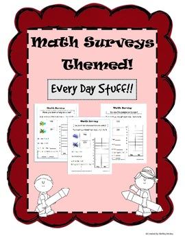 Math Survey Themed - Every Day Stuff