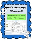 Math Survey Themed - September & October