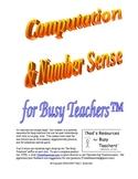 Math Survey/PreTest - Computation & Number Sense for Busy Teachers