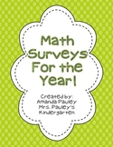 Math Surveys for the Year!