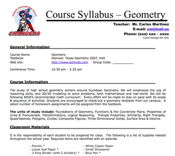 Math Syllabus