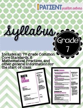 Math Syllabus: 7th grade