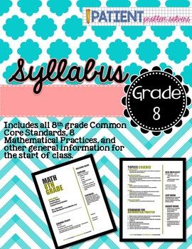 Math Syllabus: 8th grade