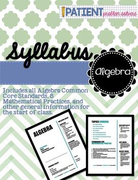 Math Syllabus: Algebra
