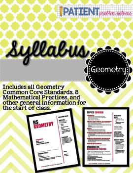 Math Syllabus: Geometry