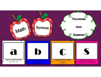 Math Symbol ABC's
